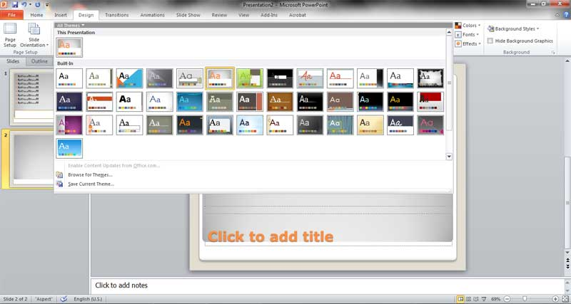 design powerpoint 2010