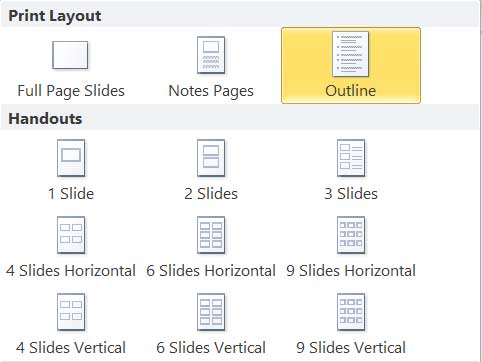 print layout powerpoint