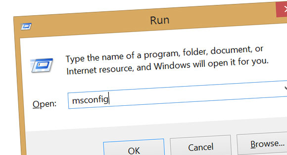 run msconfig windows
