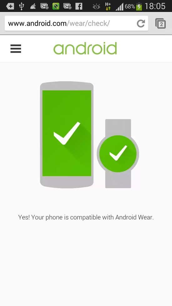 android wear checker