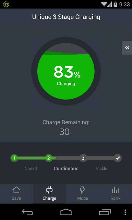 battery doctor charging screen