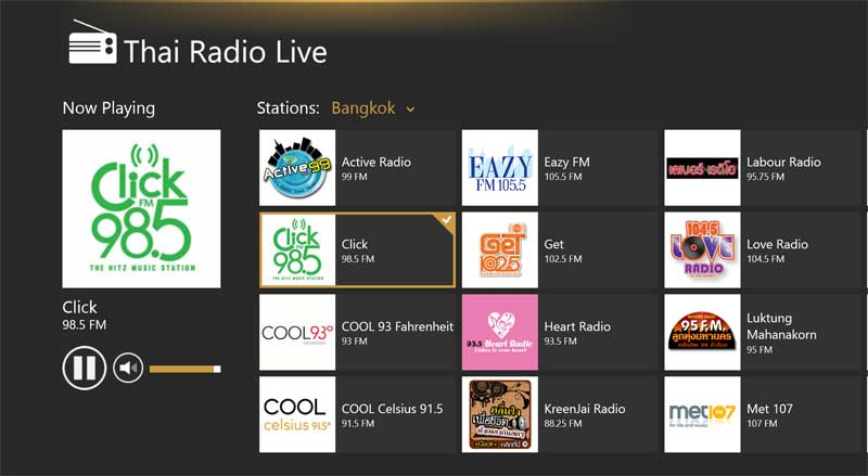 thai radio live app windows 8