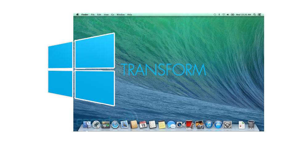 windows transformmac os x mavericks