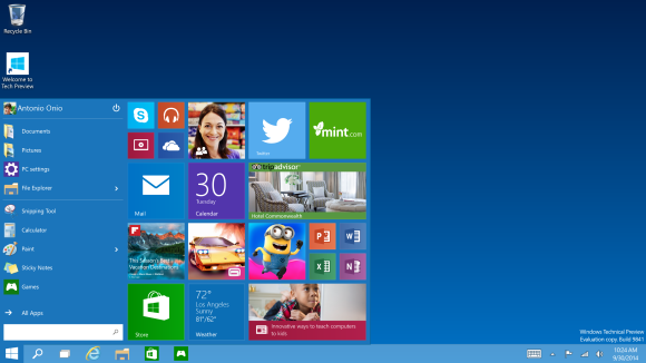 windows 10 techical preview
