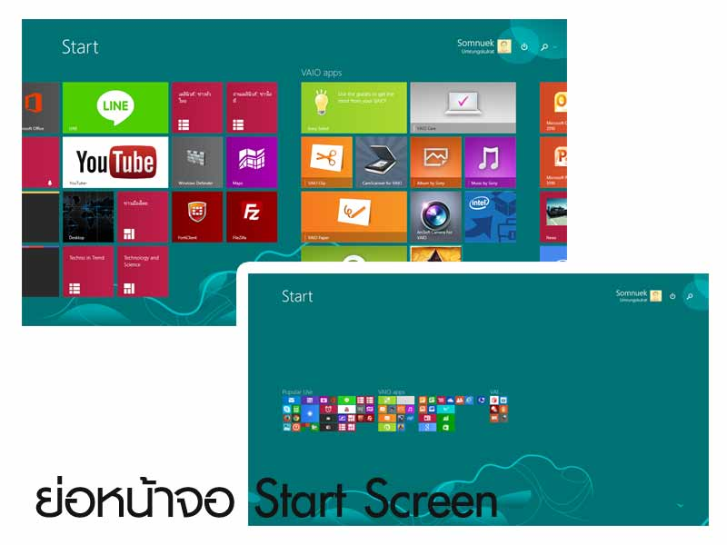 start screen zoom in-out
