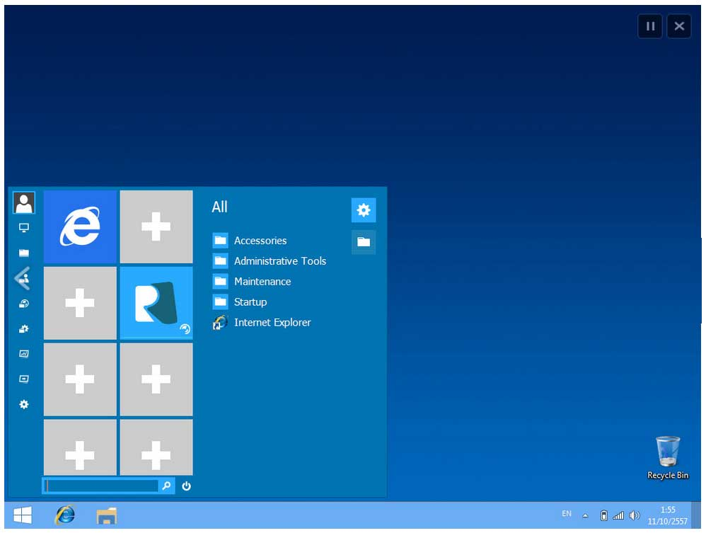 windows-10 Start menu