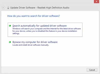 update-sound-driver screen