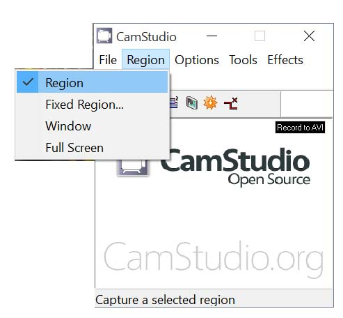 region Camstudio