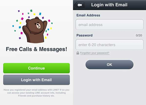 LINE-login-with-email