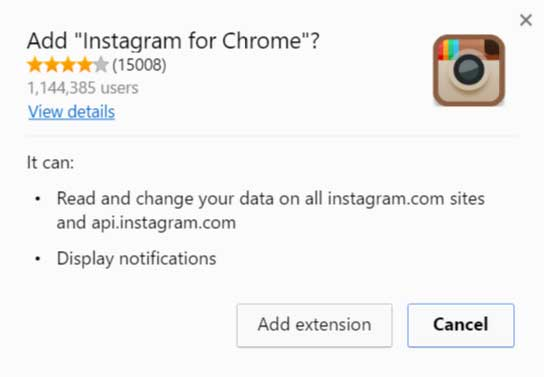 add instagram chrome extension