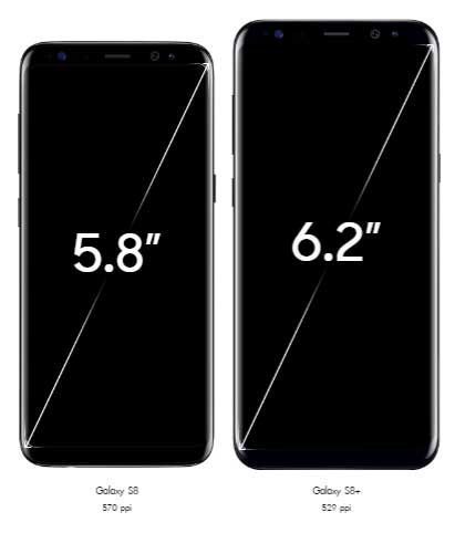 Samsung Galaxy s8 and s8plus