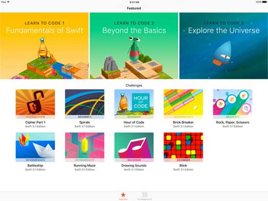 swift playgrounds features