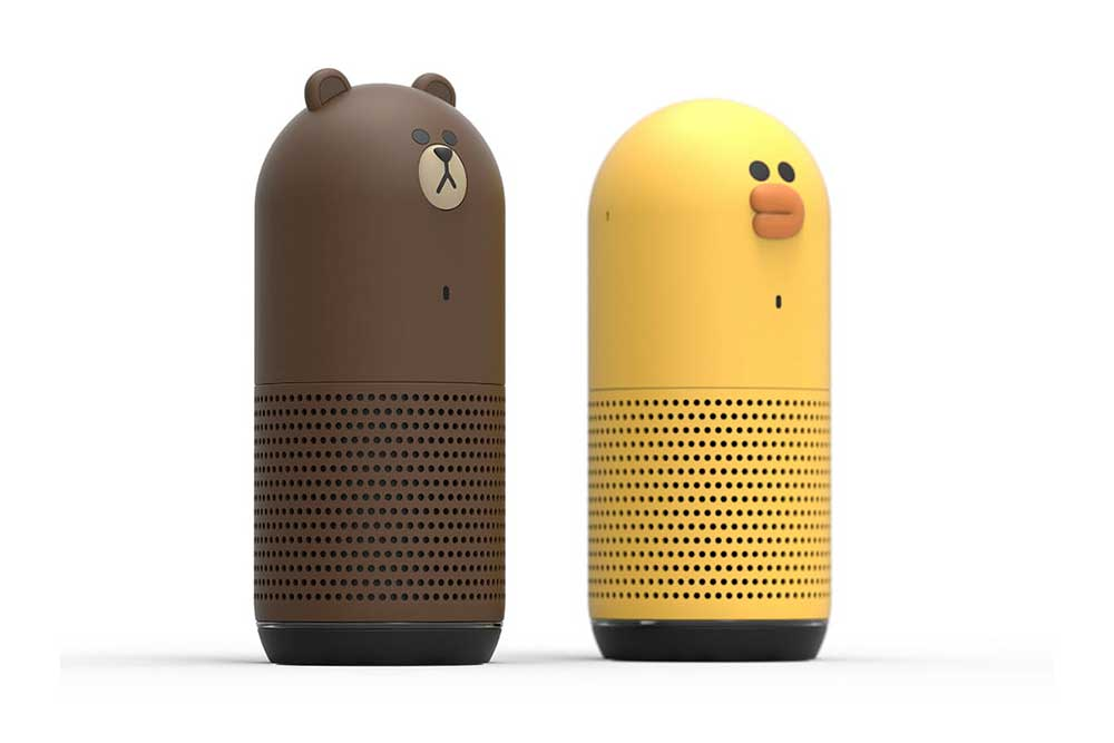 LINE-Smart-Speaker Brown & Sally