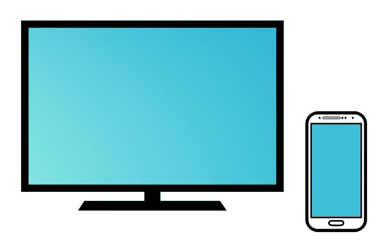 blue-light TV mobile