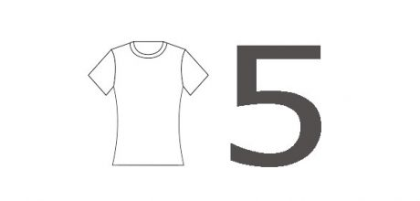 number 5 cloth