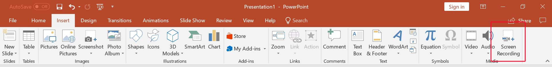 screen recording PowerPoint