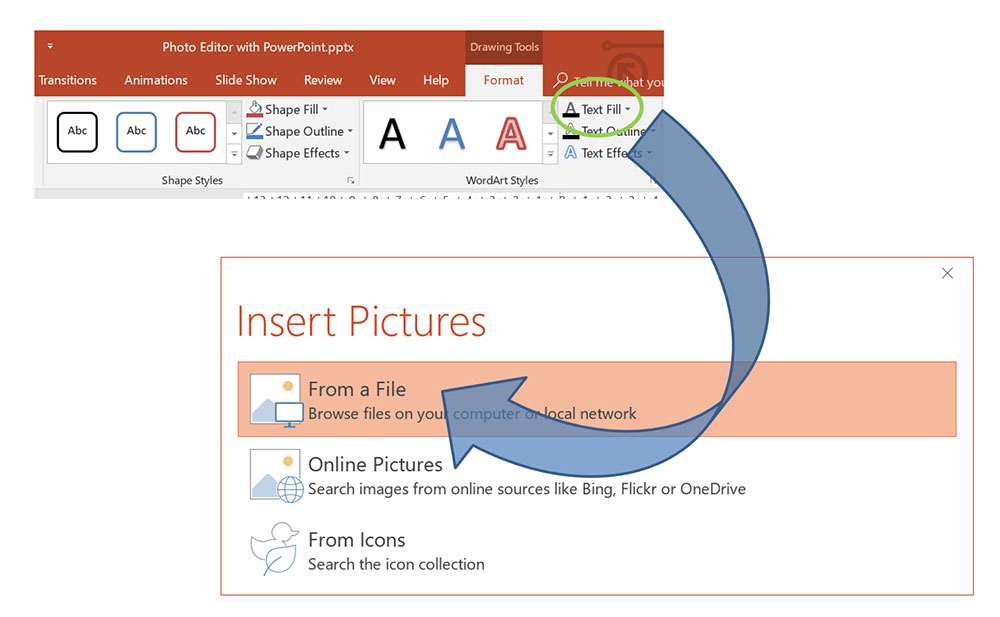 Text-Fill MS PowerPoint