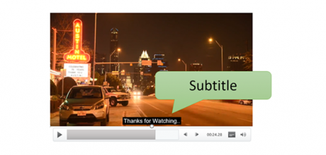 add subtitles video PowerPoint