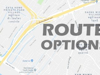 Route options Google Maps